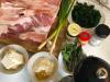 Zutaten Schweinebauch, Gewürze, Spinat, Feta