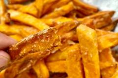 knusprige Süßkartoffelpommes selber machen