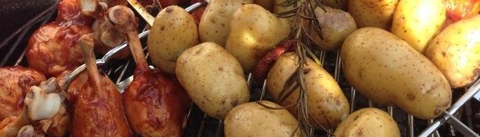 Chicken-Beulen mit Rosmarinkartoffeln