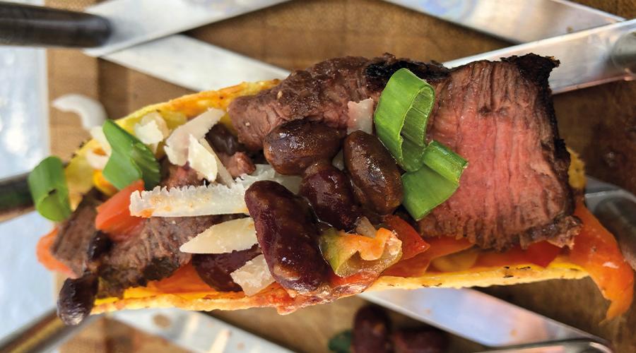 Tacos mit Rinderfilet vom Grill