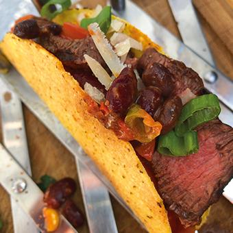Tacos mit Rinderfilet vom Brill das perfekte BBQ Fingerfood