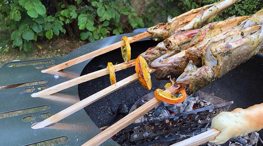 Fisch vom Grill. In den Osterferien, perfekt zu Karfreitag