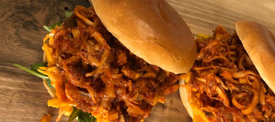 Pulled Mushroom vegan Burger