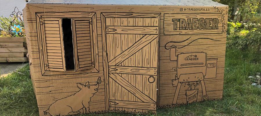 Traeger Karton Kinderspielhaus