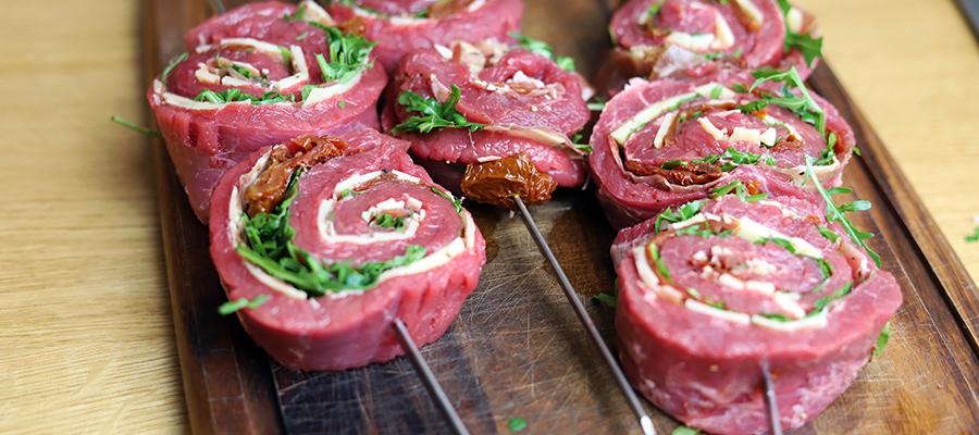 Mit Flanksteak pinwheels wirst du mit Grillen und Kochen zum Angeber