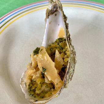 gratinierte Austern vom Grill